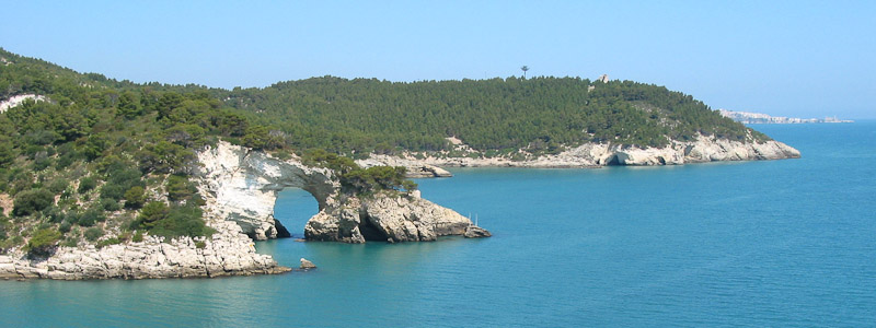 View of the coast between Manfredonia and Vieste