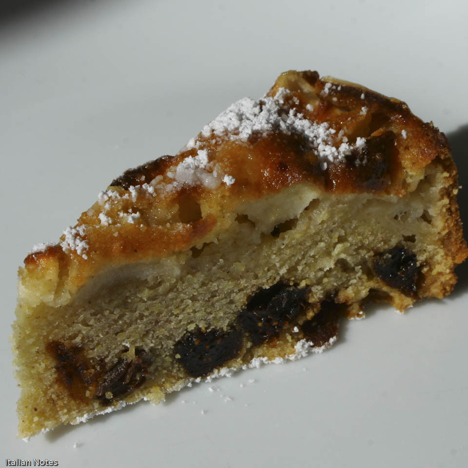 Fig & Honey Apple Polenta Cake | Bustrengo Recipe — Dishmaps