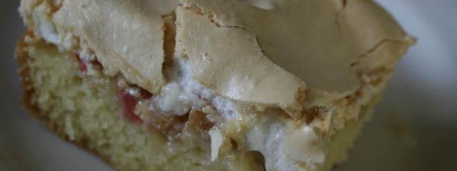 Rhubarb meringue