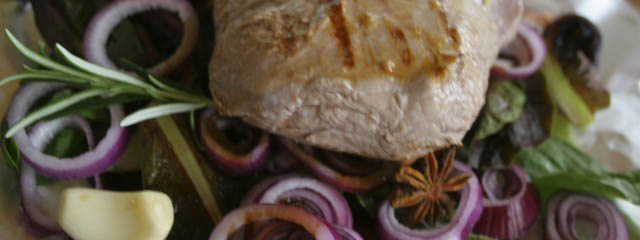 Roast lamb with radicchio