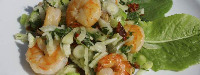 Sardinian prawn salad
