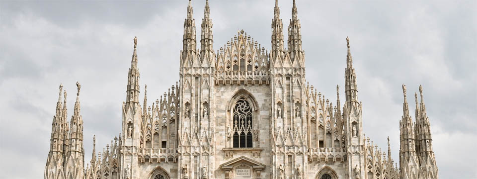 The gothic cathedral of Milan