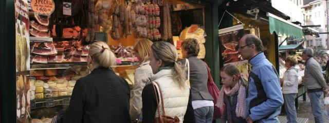 Market shopping in Bolzano