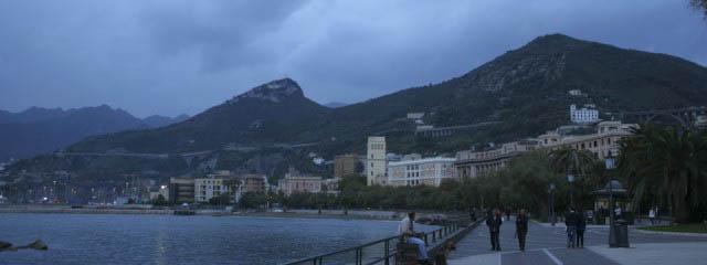 A promenade by the sea in Salerno