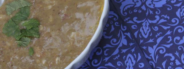 Bean barley soup