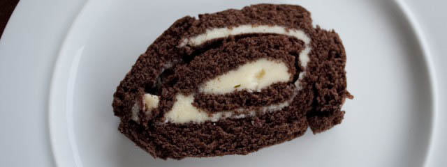 Chocolate roll with buttercream