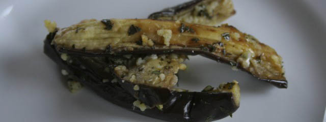 Eggplant with anchovies and capers