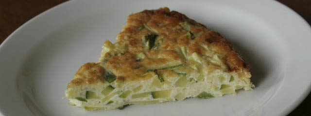 Baked squash omelette