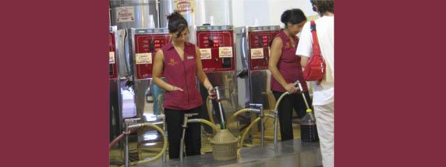 Tanking wine in Puglia