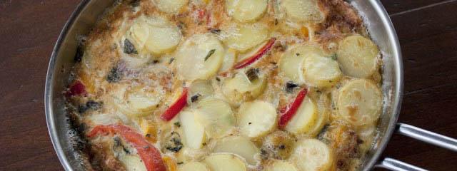 Pepper potato omelette