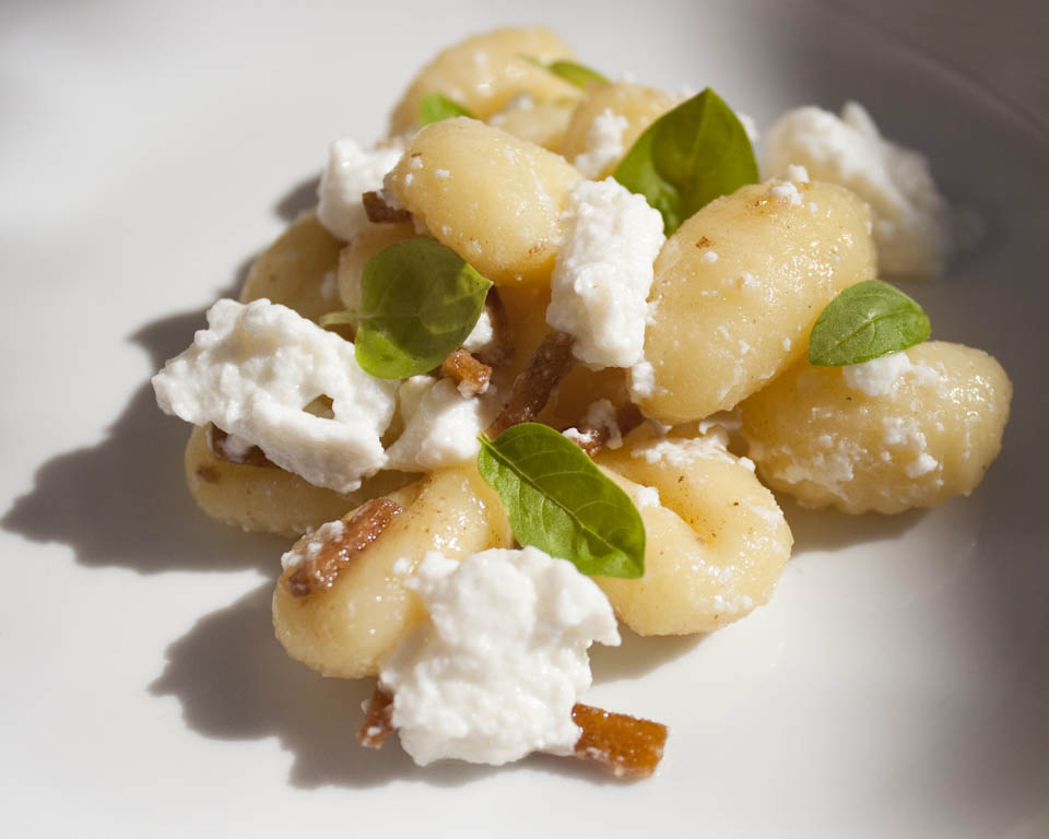 Gnocchi with butter, lemon and ricotta1