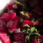Beet root salad with apple and capers