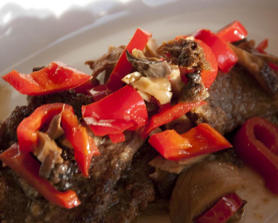 Steak and mushrooms recipe