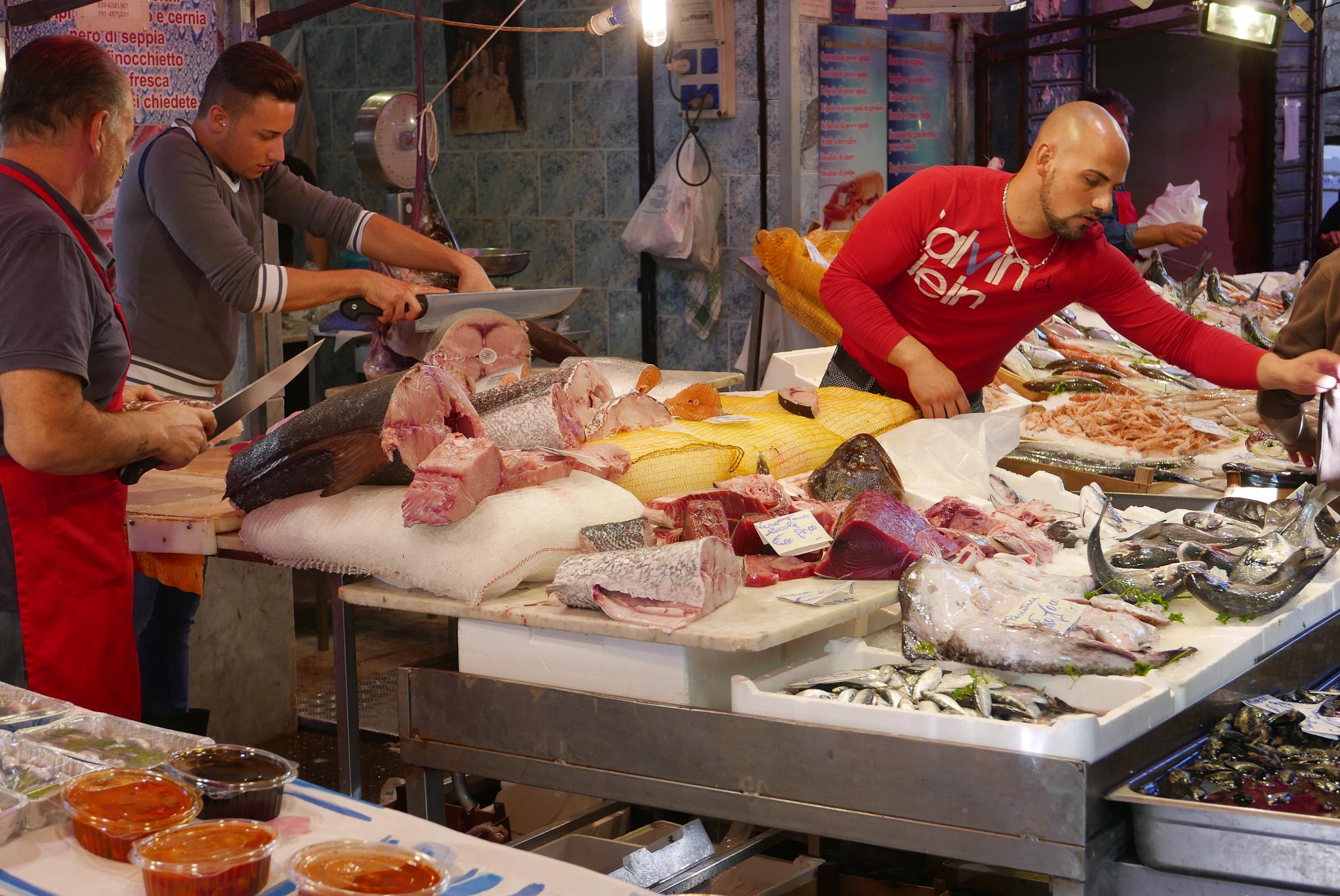 Fish sold at Palermo markets