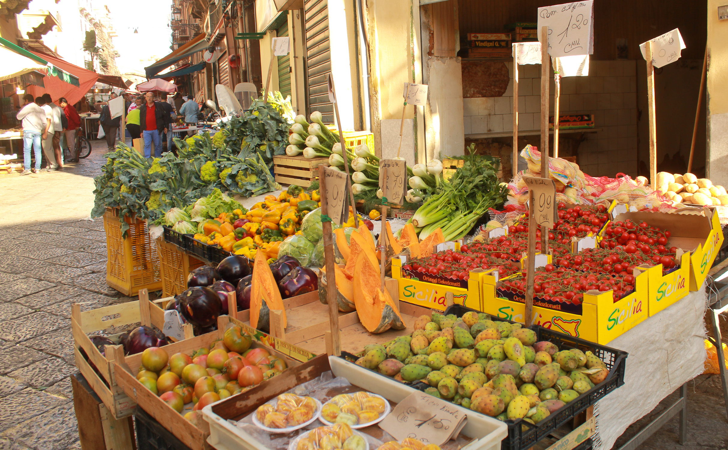 Vegetables Palermo markets