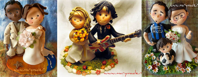 Italian weddings - Personalized cake toppers