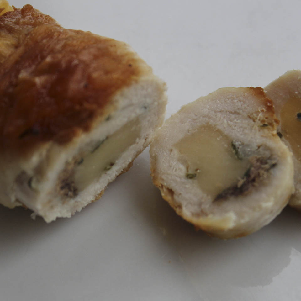 Chicken roll ups with fontina cheese