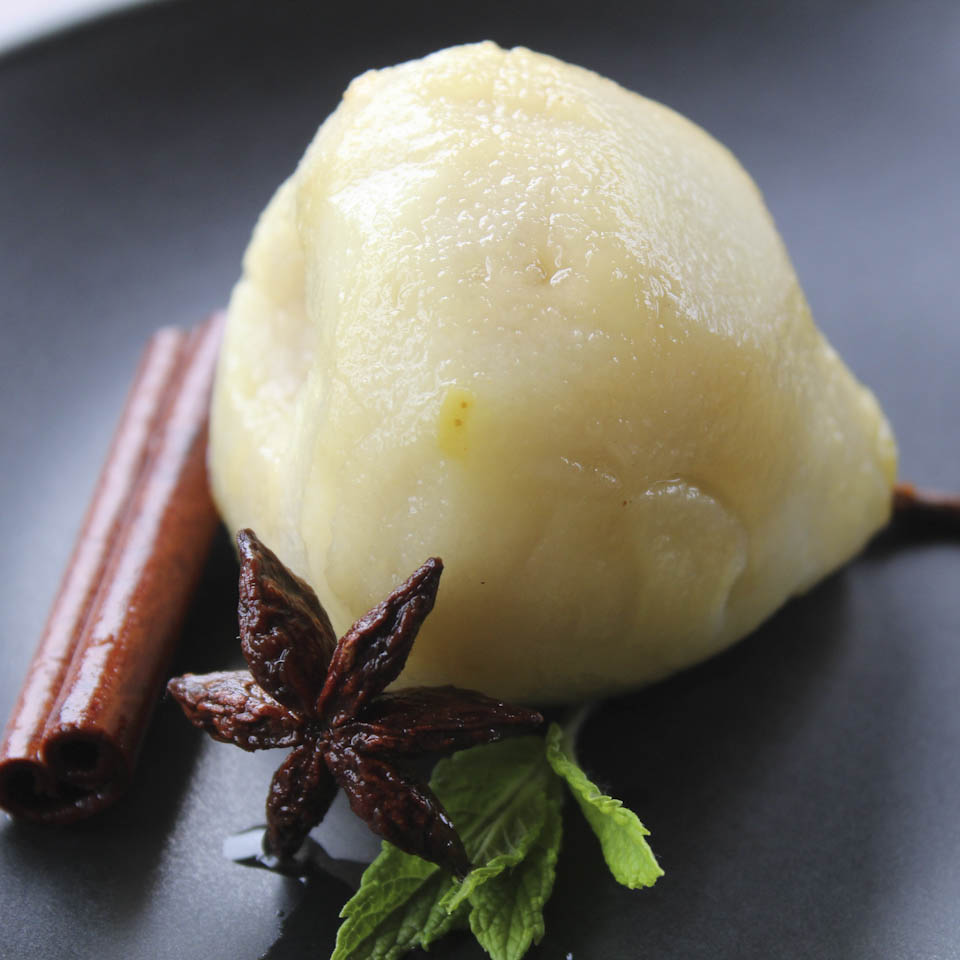 poached pears slow cooker poached pears in poaches pear with mint