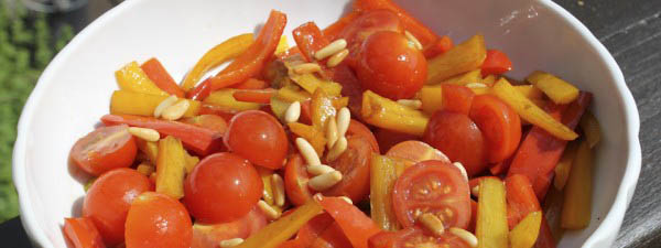 Italian fried pepper tomato salad