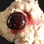 Homemade cherry ice cream