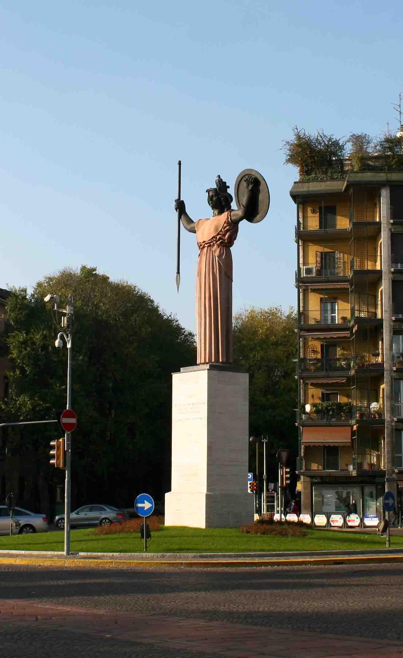 Statue og Minerva Pavia