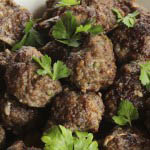 Beef meatballs with coriander and chili