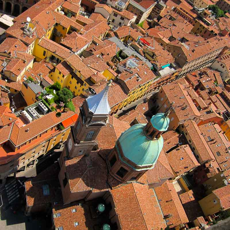 The Two Leaning Towers of Bologna