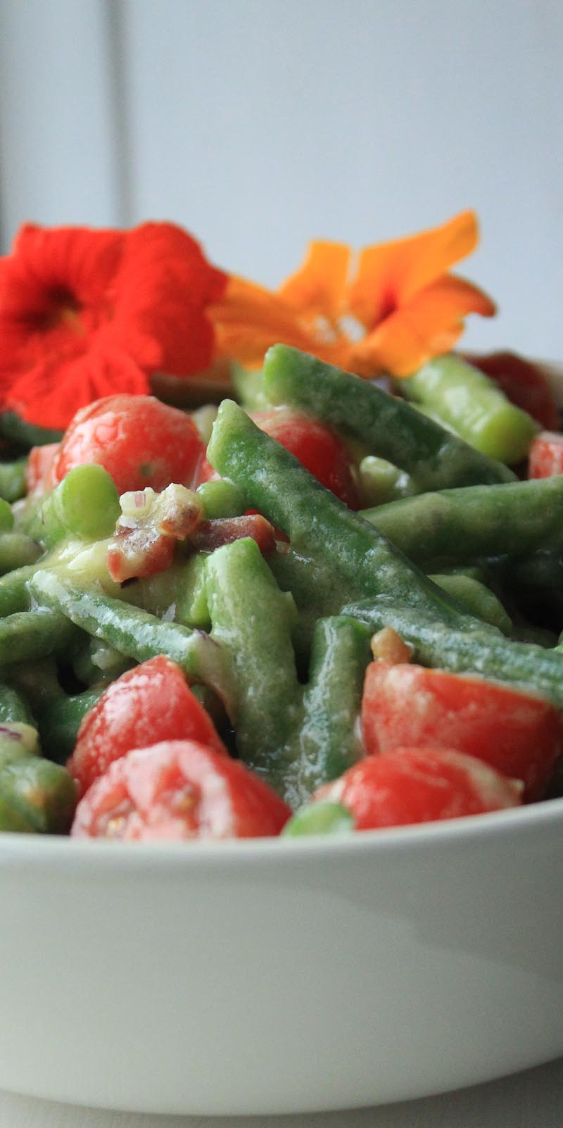 Green beans and tomato salad - Italian Notes